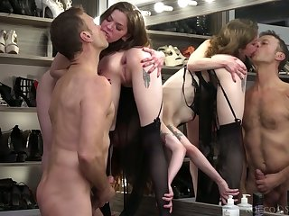 Horny dude Rocco Siffredi fucks Anna De Ville increased by the brush erotic GF with strapon