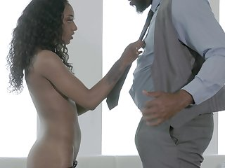 loved ebony Sizi Sev likes to fuck with her friend until both cum
