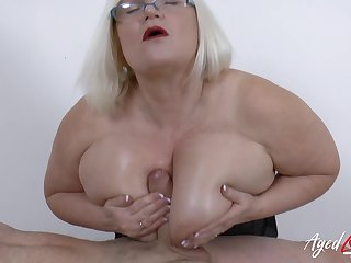 Mature lassie corrupt hardcore sex with doyen horny soldier