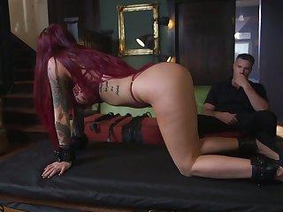 Tattooed filial Tana Lea is face fucked before hardcore pussy throb