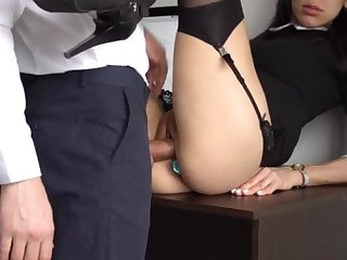 Ass Fucking Internal Ejaculation For Gorgeous Super-Bitch Assistant, Primary Smashed Her Cock-Squeezing Cooter Increased by Culo!