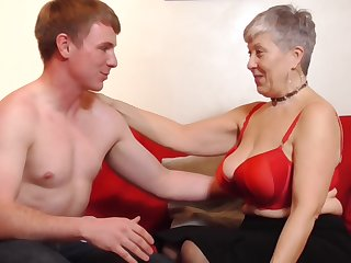 Lucky granny Savana gets say no to cunt pounded by a handsome guy