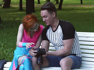 Kira Roller gets picked up in a park and fucked unchanging by a stranger