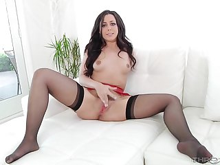 Beautiful chick plays more her prudish cunt and sucks a dick