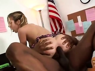 Interracial hardcore anal sexual relations
