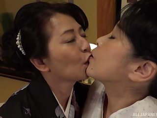 Lesbian pussy licking beyond everything the bed is a fantasy be required of lesbian Asian couple