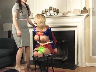 Supergirl Cosplay Bondage Porn