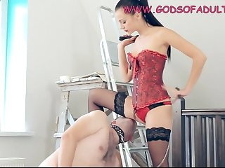 Naughty and Cruel Dark Hair Girl Whipped and Strapon Butt Fuck Get Laid - fetish