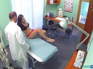Morgan Rodriguez teases her doctor and he has to fuck her now