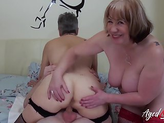 AgedLovE Hardcore Fuck with Renowned Mature Bowels