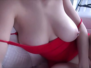 Amateur busty girl hot POV sexual congress video