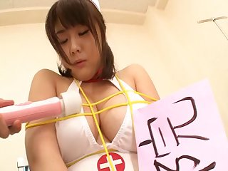 Censored porn with Japanese pains Homare Momono sucking and riding