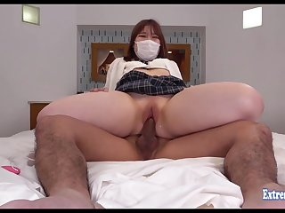 Jav Schoolgirl Maeda Fucks In its entirety Shaved Pussy She Looks Cute Serene Though She Wears Haze
