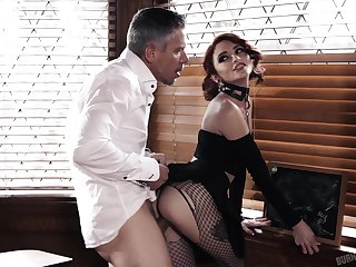 Kinky penman with regard to heavy makeup Lola Fae gives proper deepthroat BJ