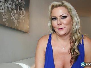 Bazaar MILF is fucked by 2 big cocks