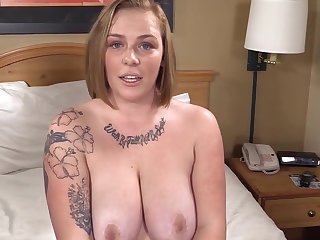 Busty Phat Strawberry Blonde is Winded & Gets her 1st Beamy Black Cock!