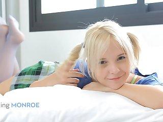 Monroe A - Blond Hair Unladylike Angel Masturbation