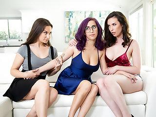 Ass, Big ass, Big natural tits, Big tits, Hairy, Lesbian, Small tits, Threesome