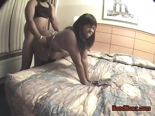 Bush-league ebony couple hardcore