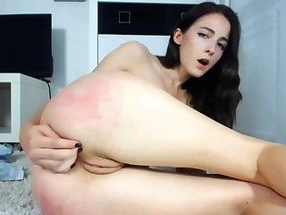 Brunette Teen Dildo Fuck