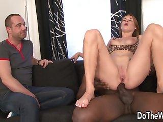 Anal, Big cock, Big tits, Brunette, Fetish, Interracial, Tattoo, Threesome