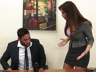 Morose milf boss Syren De Mer exploits employee be beneficial to dick hd