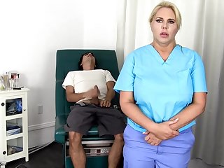 Sensuous, blondie nurse is vehicle b resources every chance to get screwed, even if she is at work