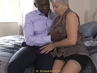 Giant Titty Grandma Adjacent to A Cock-Squeezing Labia