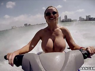 Order tits MILF Nikki Benz sucks a dick and gets fucked in all directions outdoors