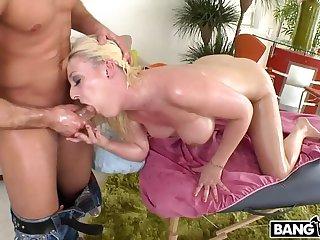 Ass, Big ass, Big pussy, Big tits, Blonde, Cum, Cumshot, Facial, Fingering, Massage
