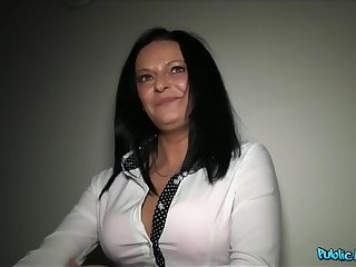 Busty milf has sex with a stranger be incumbent on cash