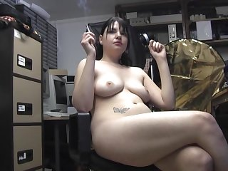 Horny girl Teona Styles likes to smoke while fingering himself