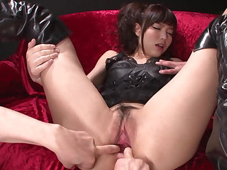 Megumi shino's pussy and pain in the neck fucked with a vibrator