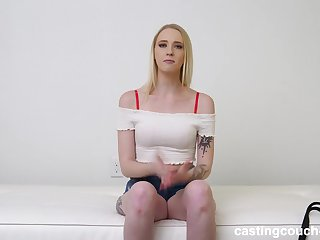 Anal, Anal creampie, Ass, Big ass, Big natural tits, Big tits, Blonde, Casting, Cowgirl, Creampie, Cum, Cumshot, Doggystyle, Interracial, Long hair, Pov, Rough, Small tits, Tattoo