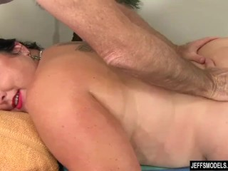 Enormous babe Calista Roxxx Gets a rubdown and a be thrilled by make application Up The brush beaver Bohemian carnal knowledge
