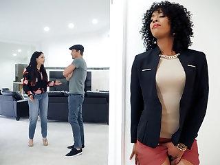 Ebony realty agent fucked client