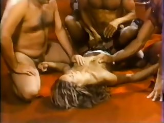 Pretty vintage blonde with Nick Niter & 2 other guys from Go for it (1983)